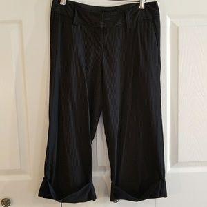 Pants - Black Pin Stripe Capris